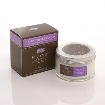 St. James of London - Lavender & Geranium Shave Jar 5.07 oz