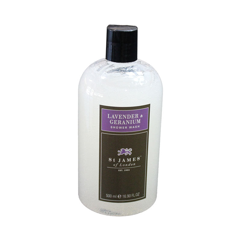 St. James of London – Lavender & Geranium Shower Wash 16.9 oz