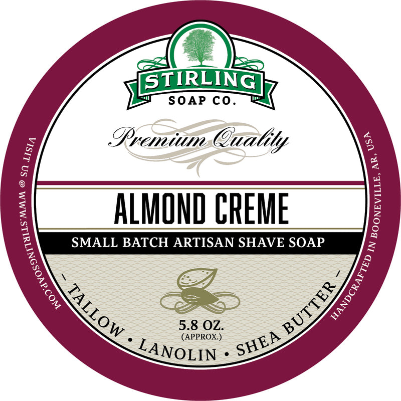 Stirling Soap Co. - Almond Creme Shaving Soap