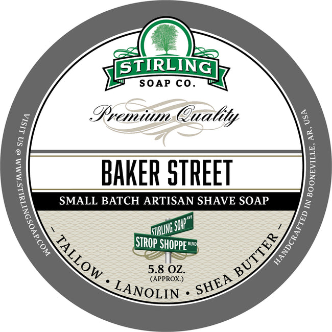 Stirling Soap Co. - Baker Street Shaving Soap
