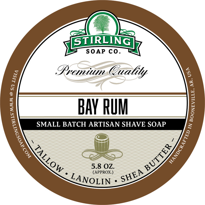 Stirling Soap Co. - Bay Rum Shaving Soap