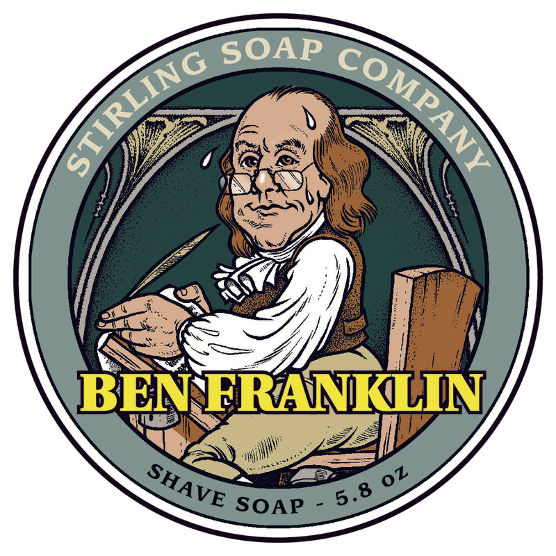 Stirling Soap Co. - Ben Franklin Shaving Soap