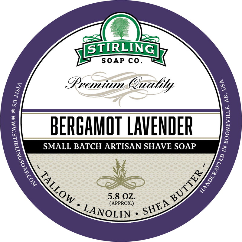 Stirling Soap Co. - Bergamot Lavender Shaving Soap