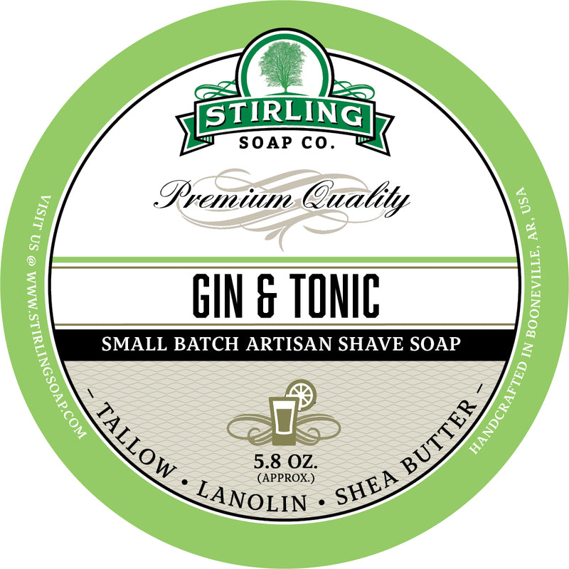 Stirling Soap Co. - Gin & Tonic Shaving Soap