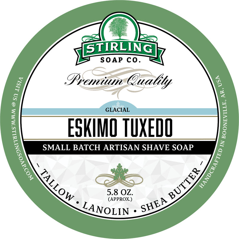 Stirling Soap Co. - Glacial Eskimo Tuxedo Shaving Soap