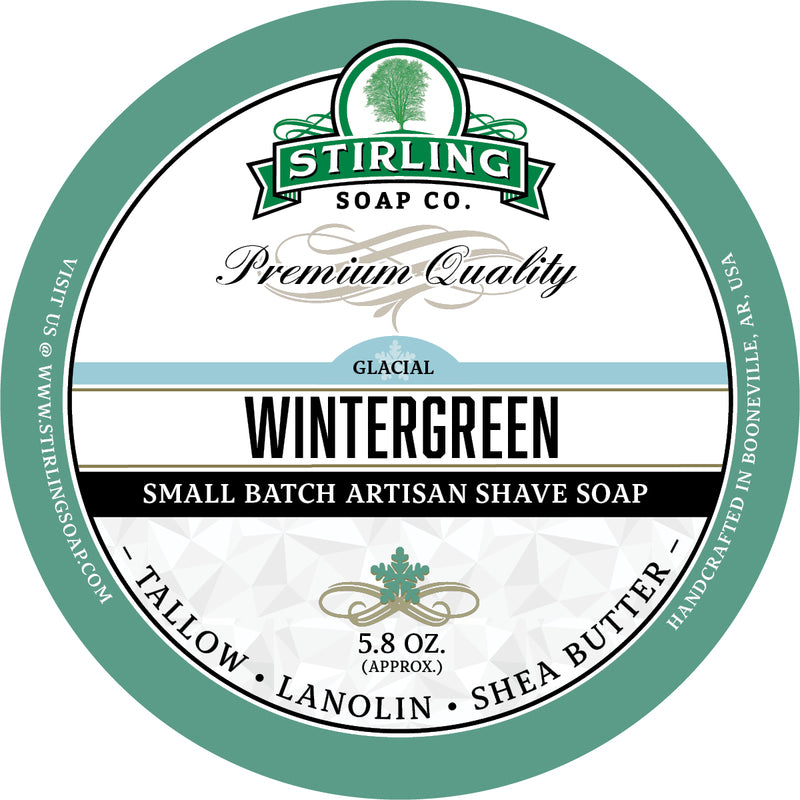 Stirling Soap Co. - Glacial Wintergreen Shaving Soap