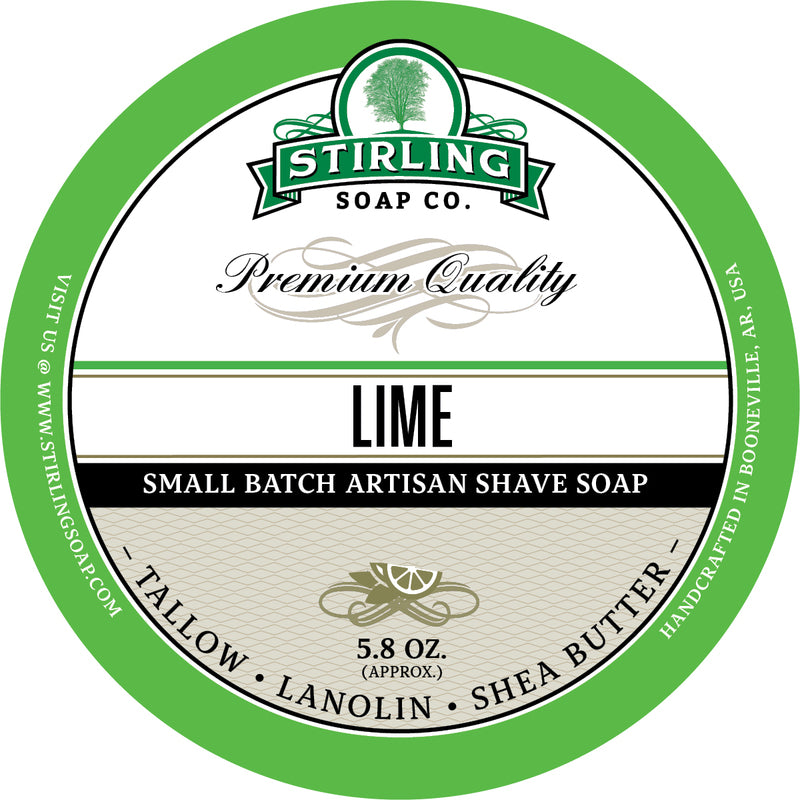 Stirling Soap Co. - Lime Shaving Soap