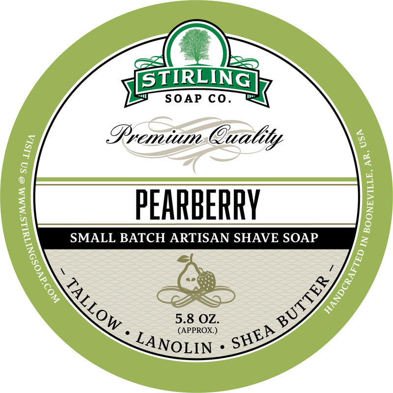 Stirling Soap Co. - Pearberry Shaving Soap