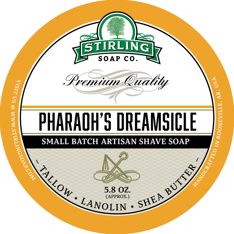 Stirling Soap Co. - Pharaoh's Dreamsicle Shaving Soap