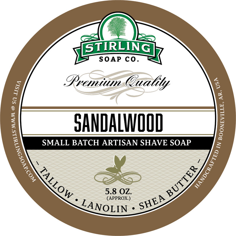 Stirling Soap Co. - Sandalwood Shaving Soap