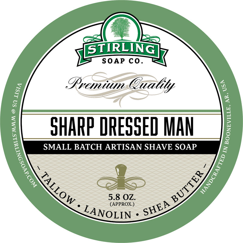 Stirling Soap Co. - Sharp Dressed Man Shaving Soap
