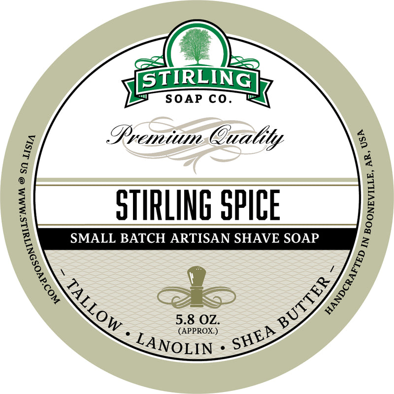 Stirling Soap Co. - Stirling Spice Shaving Soap