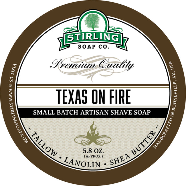Stirling Soap Co. - Texas on Fire Shaving Soap