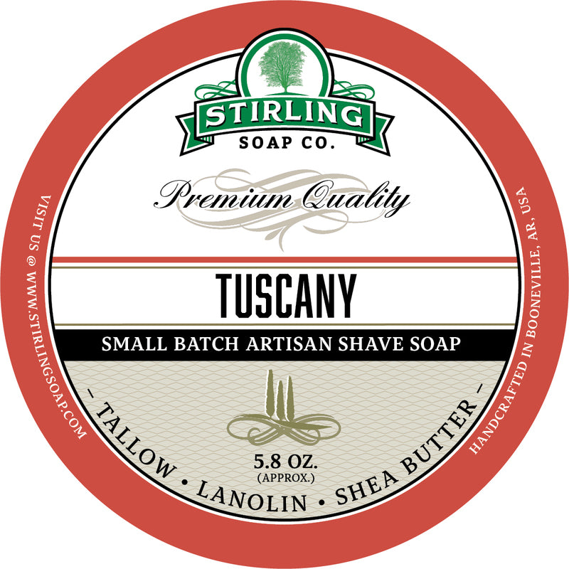 Stirling Soap Co. - Tuscany Shaving Soap