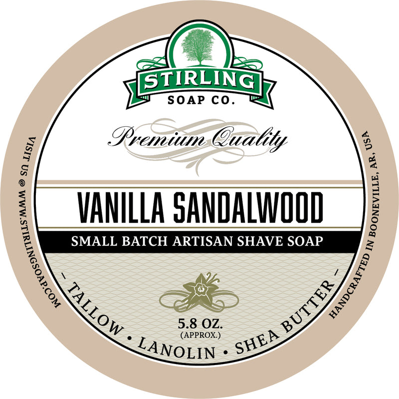 Stirling Soap Co. - Vanilla Sandalwood Shaving Soap