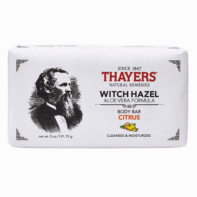 Thayers - Citrus Witch Hazel Body Bar with Aloe Vera 5 oz - Soap Bar