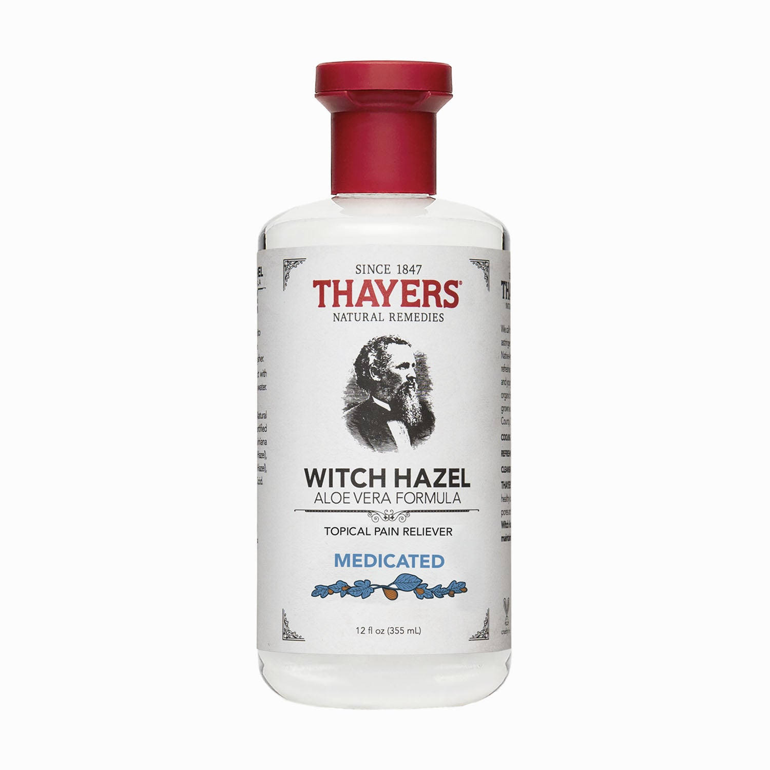 Thayers - Medicated Superhazel Topical Pain Reliever 12 oz Bottle - Aftershave Splash