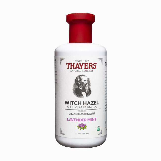 Thayers - Organic Lavender Mint Witch Hazel Astringent with Aloe Vera 12 oz. Bottle - Aftershave Splash