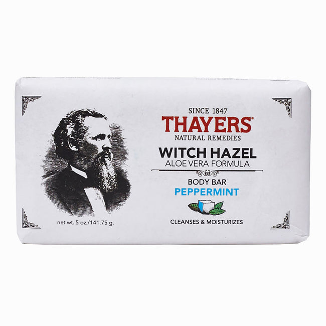 Thayers - Peppermint Witch Hazel Body Bar with Aloe Vera 5 oz - Soap Bar