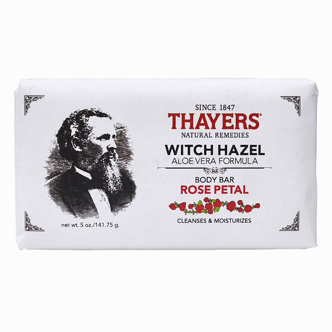 Thayers - Rose Petal Witch Hazel Body Bar with Aloe Vera 5 oz - Soap Bar