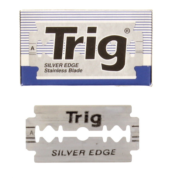 Trig Silver Edge Stainless DE Blades, 10 pack