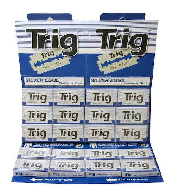 Trig Silver Edge Stainless DE Blades, 200 pack