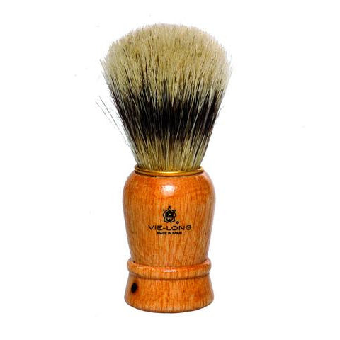 Vie-Long - Horse Hair Shaving Brush, Red-White Acrylic Handle - 14080