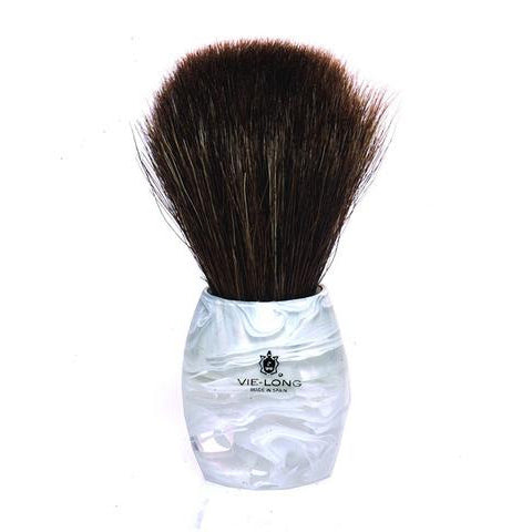 Vie-Long - Horse Hair Shaving Brush, Acrylic White & Transparent