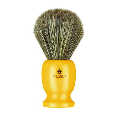 Vie-Long - Shaving Brush, Brown Horse Hair Acrylic, Butterscotch - PB12750