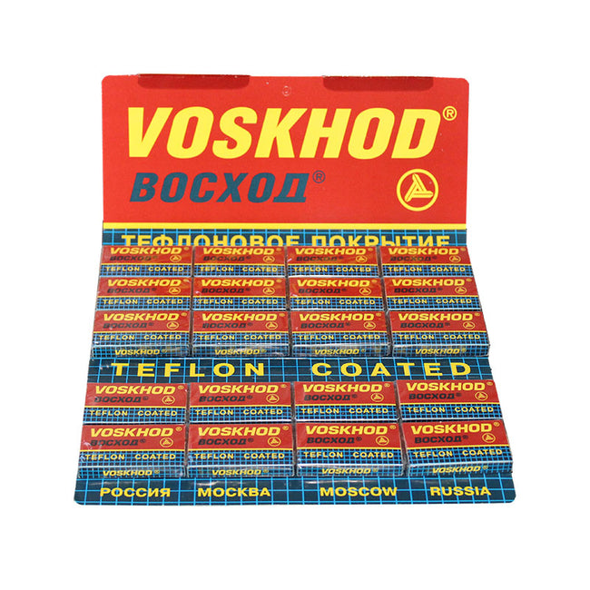 Voskhod Teflon Coated DE Safety Razor Blades - 100 pack