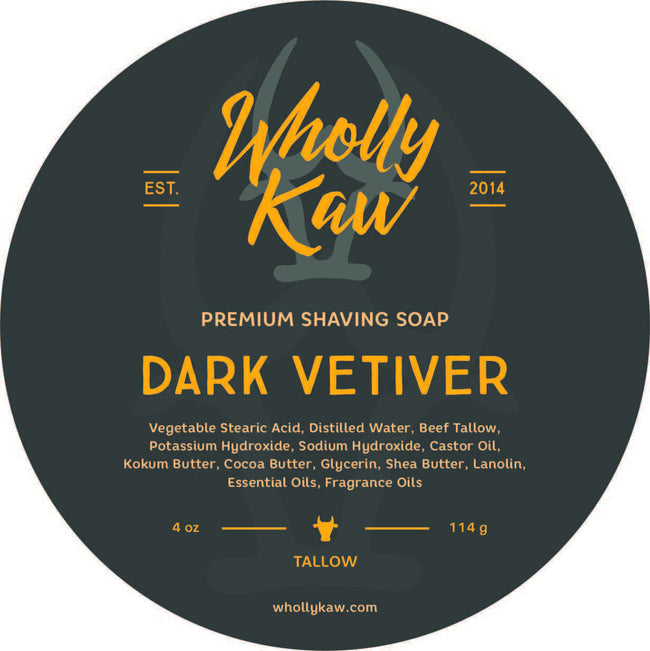 Wholly Kaw - Dark Vetiver Tallow Shaving Soap