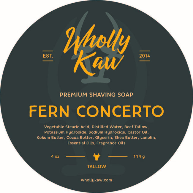 Wholly Kaw - Fern Concerto Tallow Shaving Soap