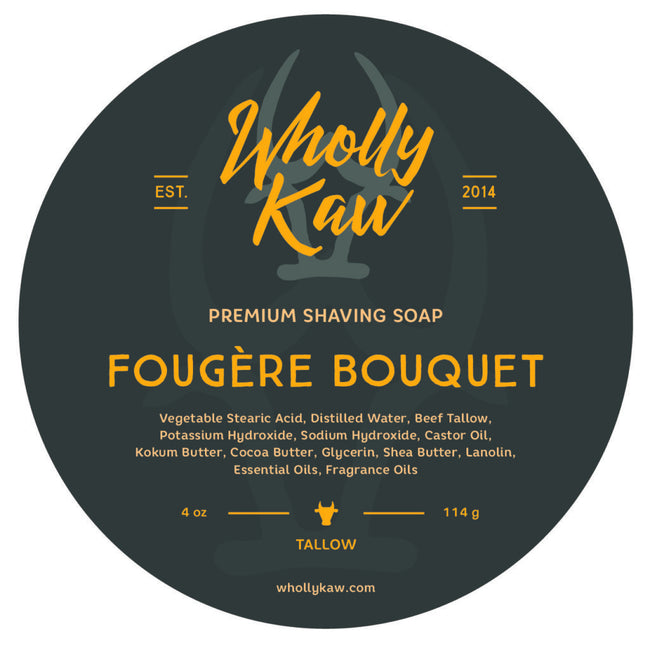 Wholly Kaw - Fougère Bouquet Tallow Shaving Soap