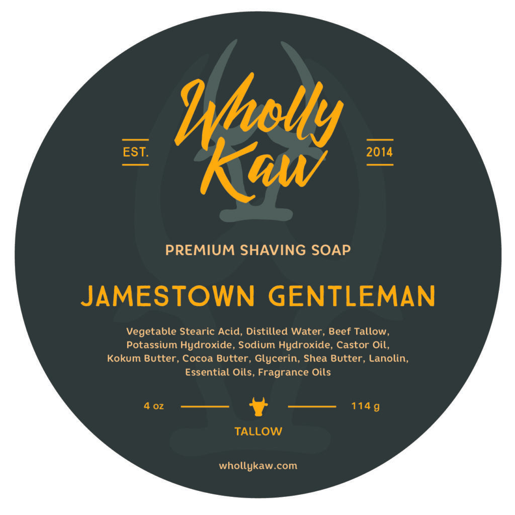 Wholly Kaw - Jamestown Gentleman Tallow Shaving Soap