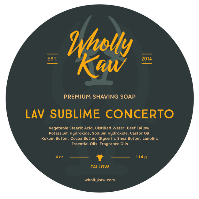 Wholly Kaw - Lav Sublime Tallow Shaving Soap