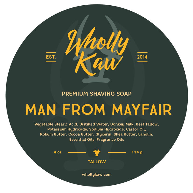 Wholly Kaw - Man from Mayfair Tallow Shaving Soap