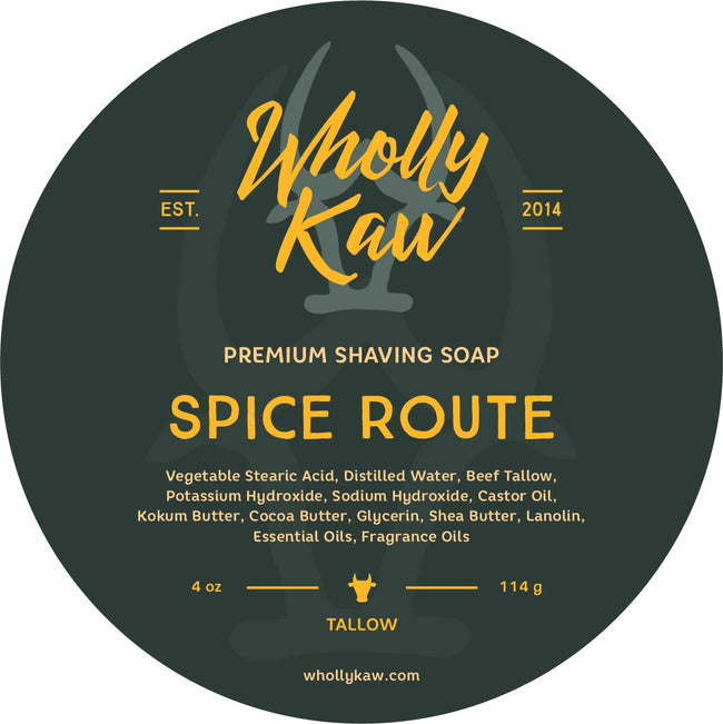 Wholly Kaw - Spice Route Tallow Shaving Soap