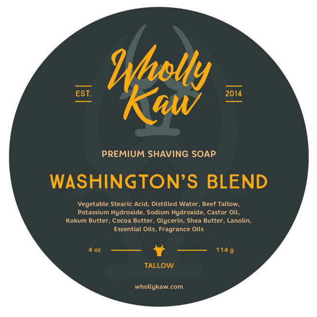 Wholly Kaw - Washington's Blend Tallow Shaving Soap