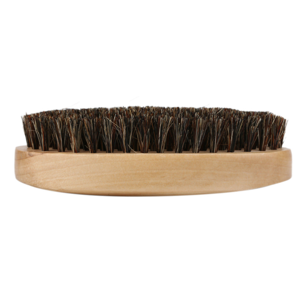 Wooden Beard and Moustache Boar Bristle Brush