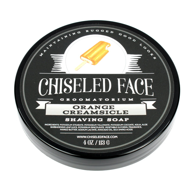 Chiseled Face – Orange Creamsicle with Menthol – Shaving Soap