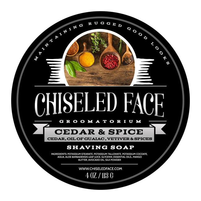 Chiseled Face – Cedar & Spice – Shaving Soap