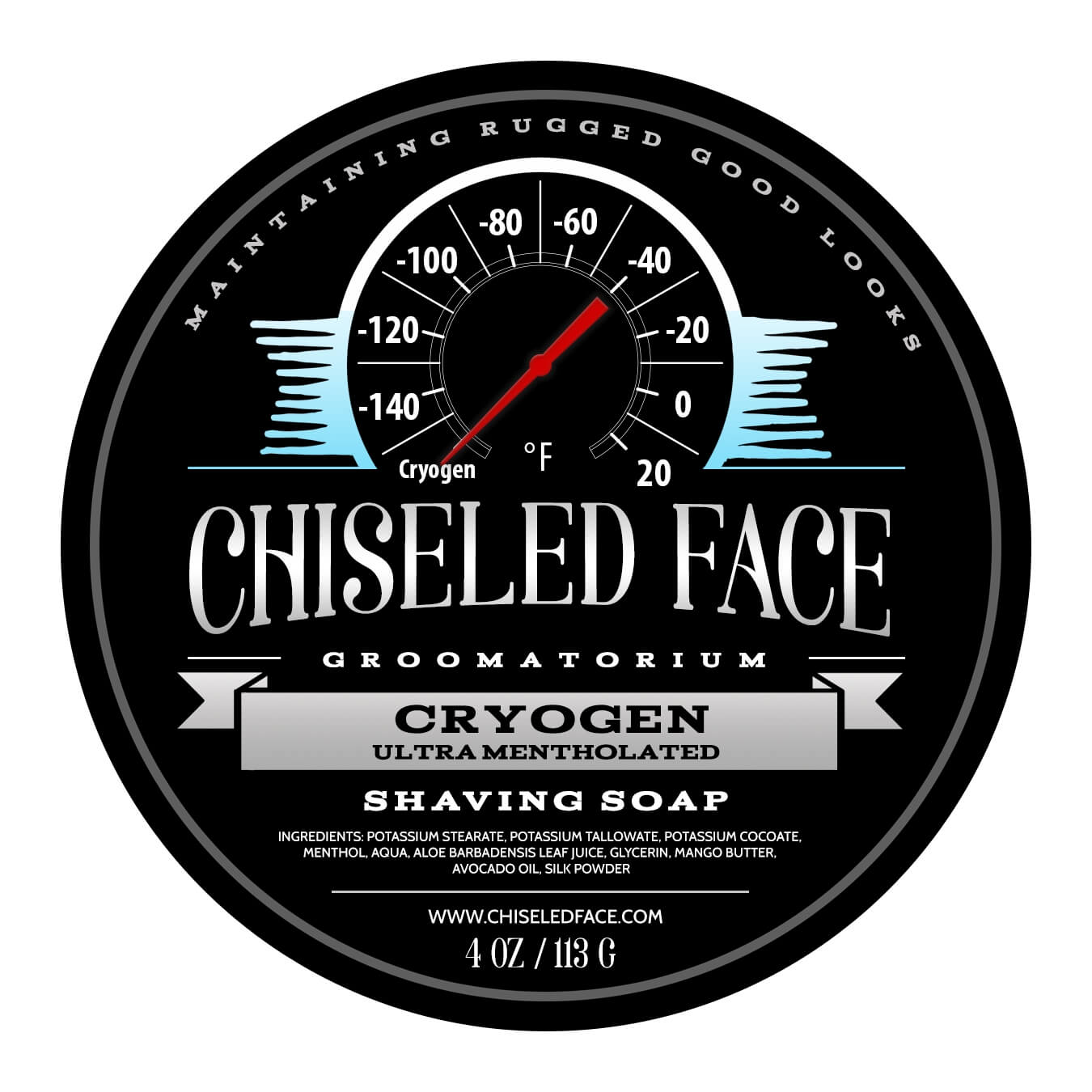 Chiseled Face – Cryogen – Shaving Soap
