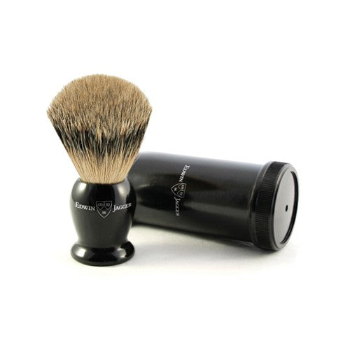 Edwin Jagger Imitation Ebony Best Badger Travel Brush & Tube