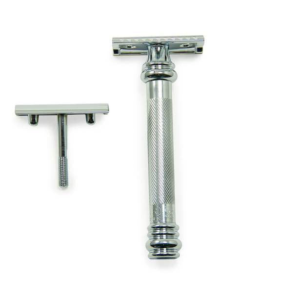 Merkur 38C HD Chrome Barber Pole Long Handle Double Edge Safety Razor