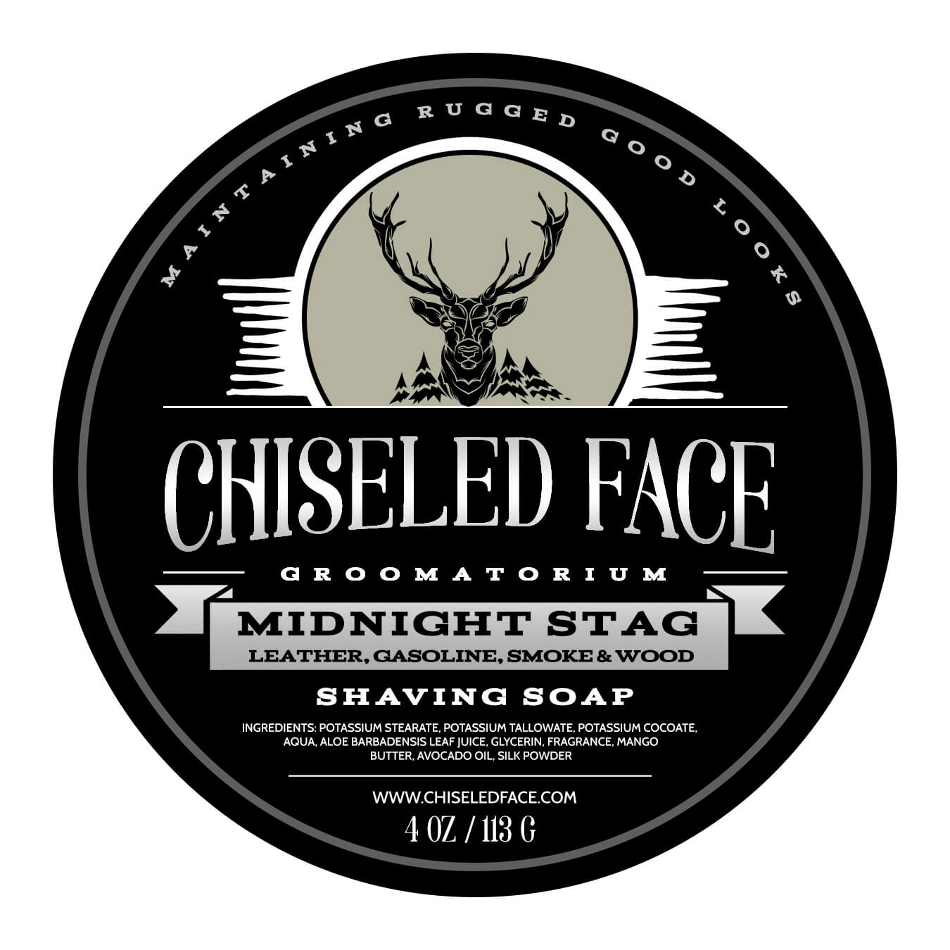 Chiseled Face - Midnight Stag - Shaving Soap Imperfect