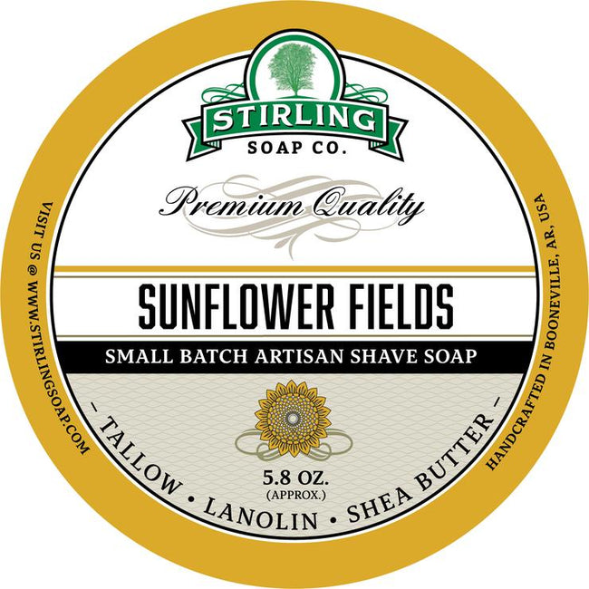 Stirling Soap Co. - Sunflower Fields Shaving Soap