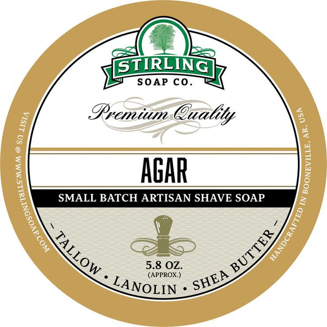 Stirling Soap Co. - Agar Shaving Soap