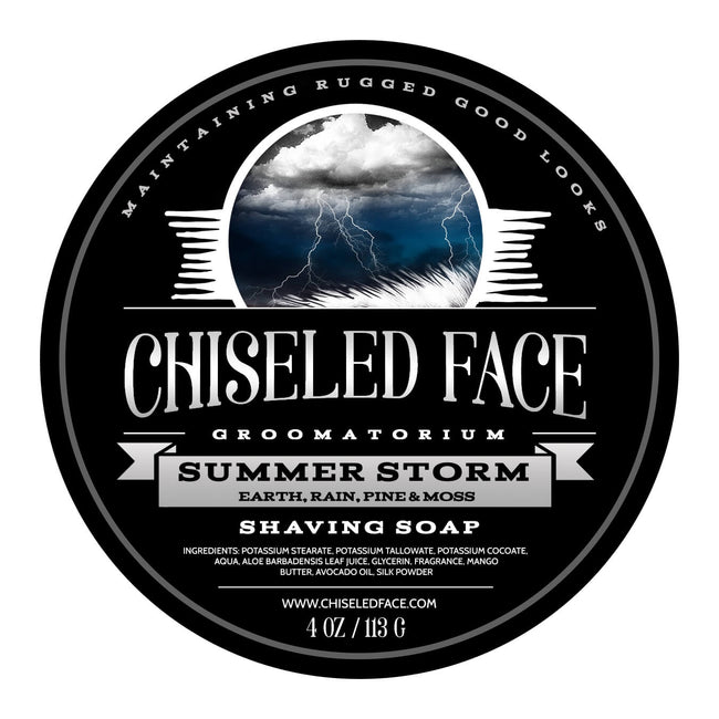 Chiseled Face – Summer Storm – Shaving Soap