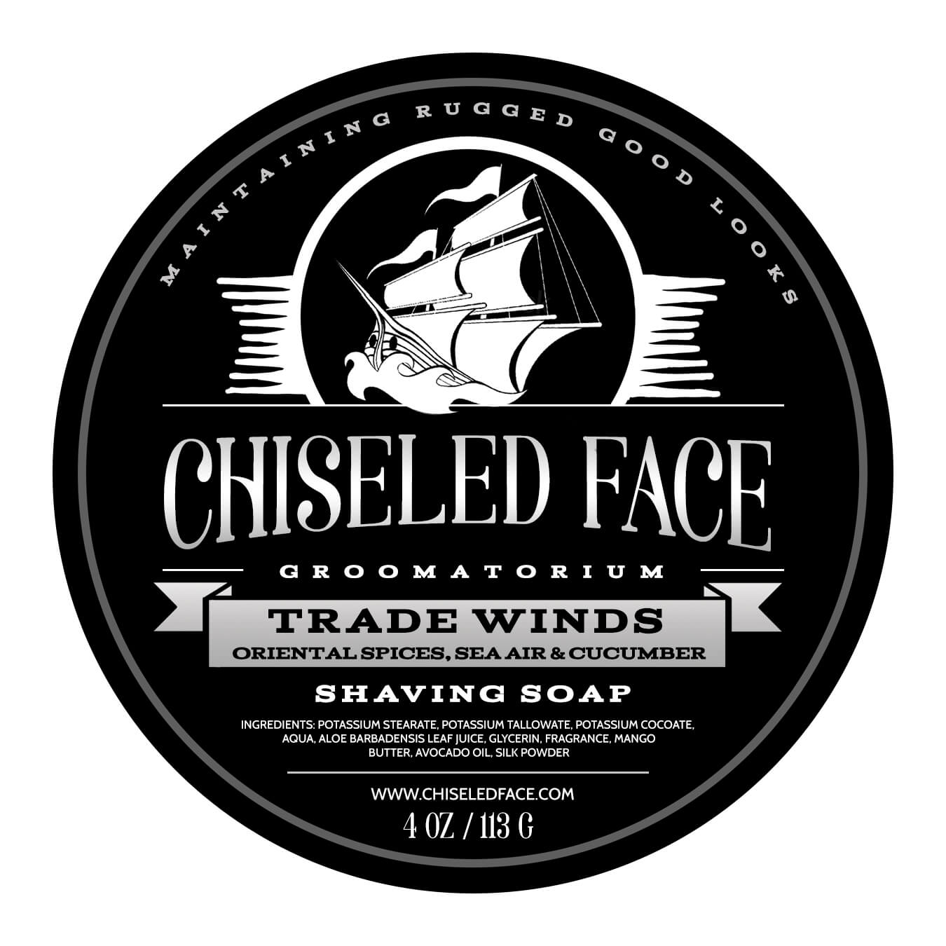 Chiseled Face – Trade Winds – Shaving Soap