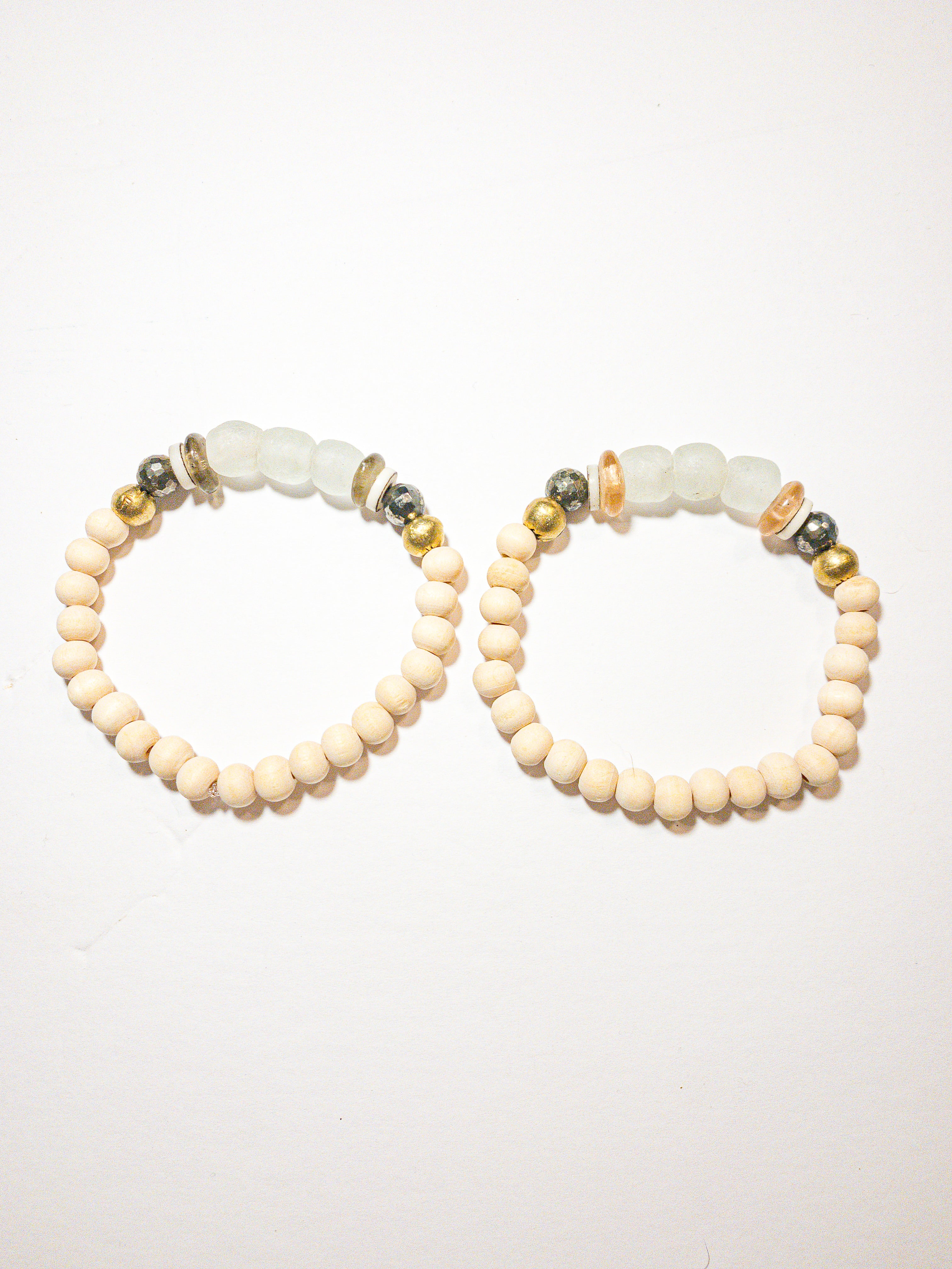 Small Summer Bracelet | Frosted White